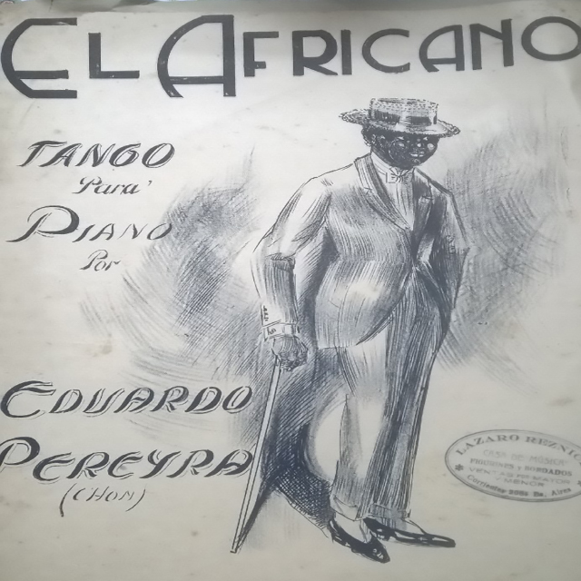 """El africano"", Argentine Tango music sheet cover."