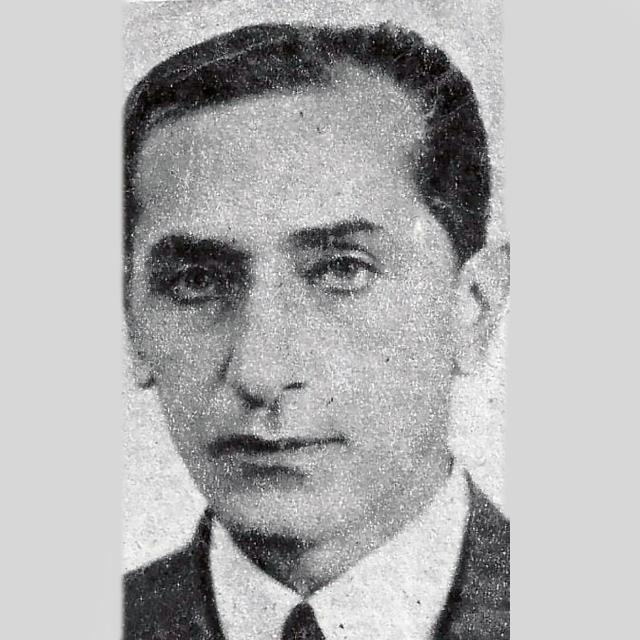 Enrique Dizeo, lyricist of Argentine Tango. Portrait.
