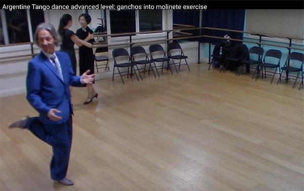 Ganchos in molinete with Argentine Tango Maestro Marcelo Solis