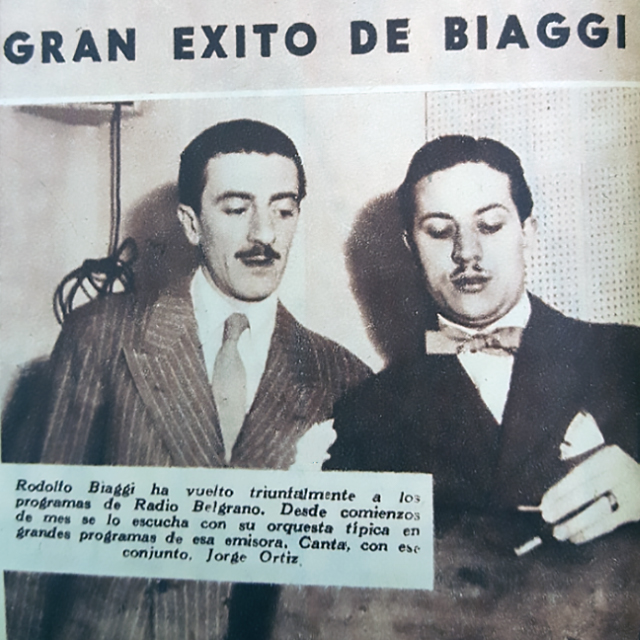 Jorge Ortiz and Rodolfo Biagi, Argentine Tango artists.