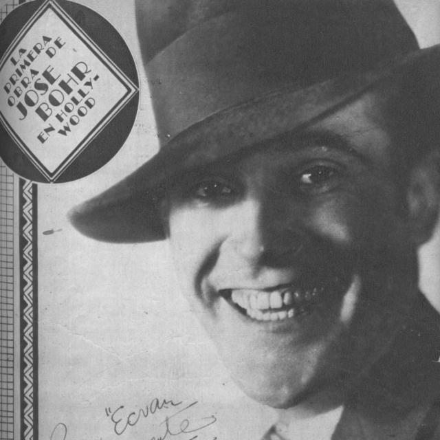 José Bohr, Argentine Tango singer, composer, lyricist, actor and leader. Portrait.