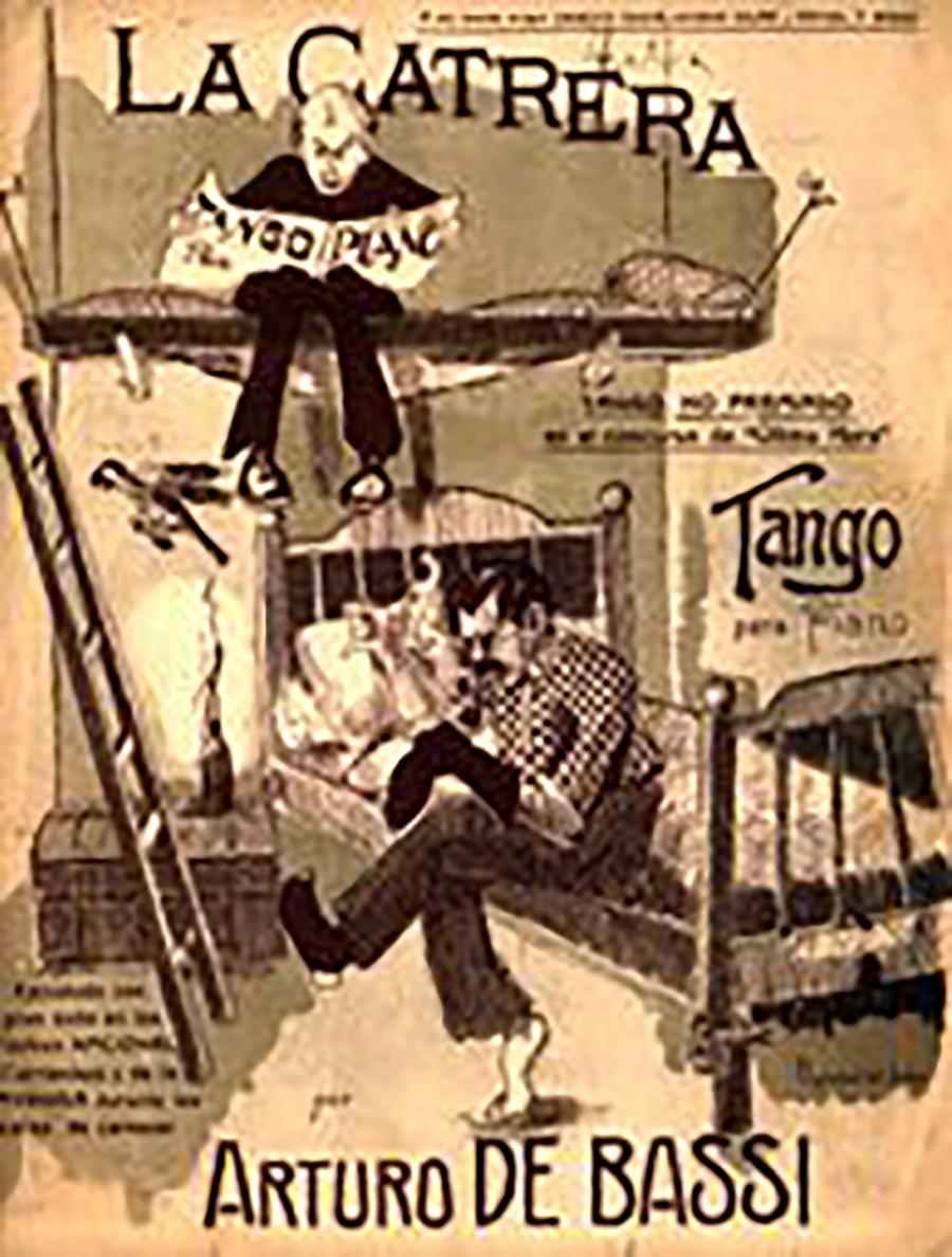 """""""La Catrera"""", Argentine Tango by Arturo De Bassi, music sheet cover."""