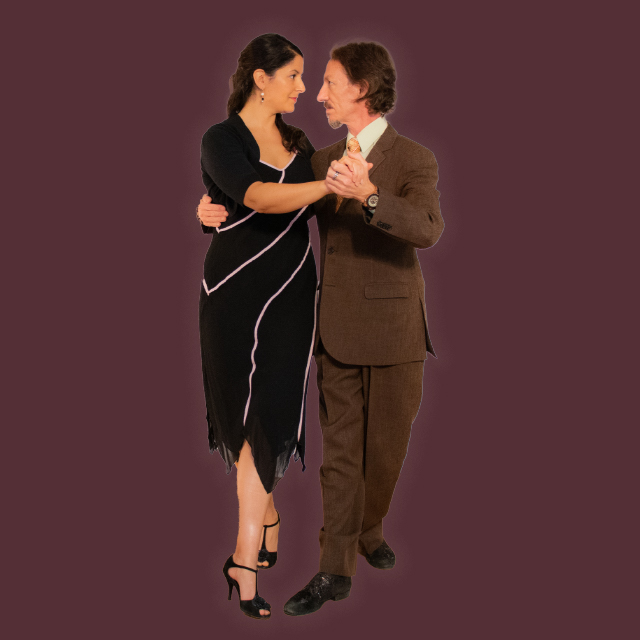 Argentine Tango dancing. Marcelo Solis and Mimi.