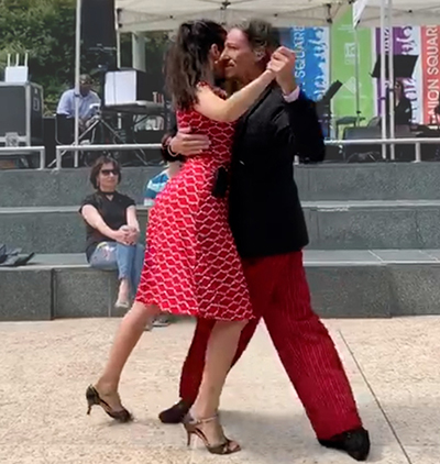 Marcelo and Miranda dancing Argentine Tango in San Francisco