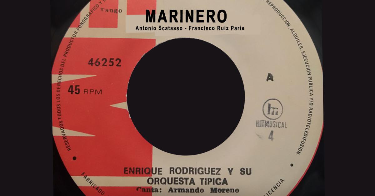 """""""Marinero"""", Argentine Tango music vinyl disc."""