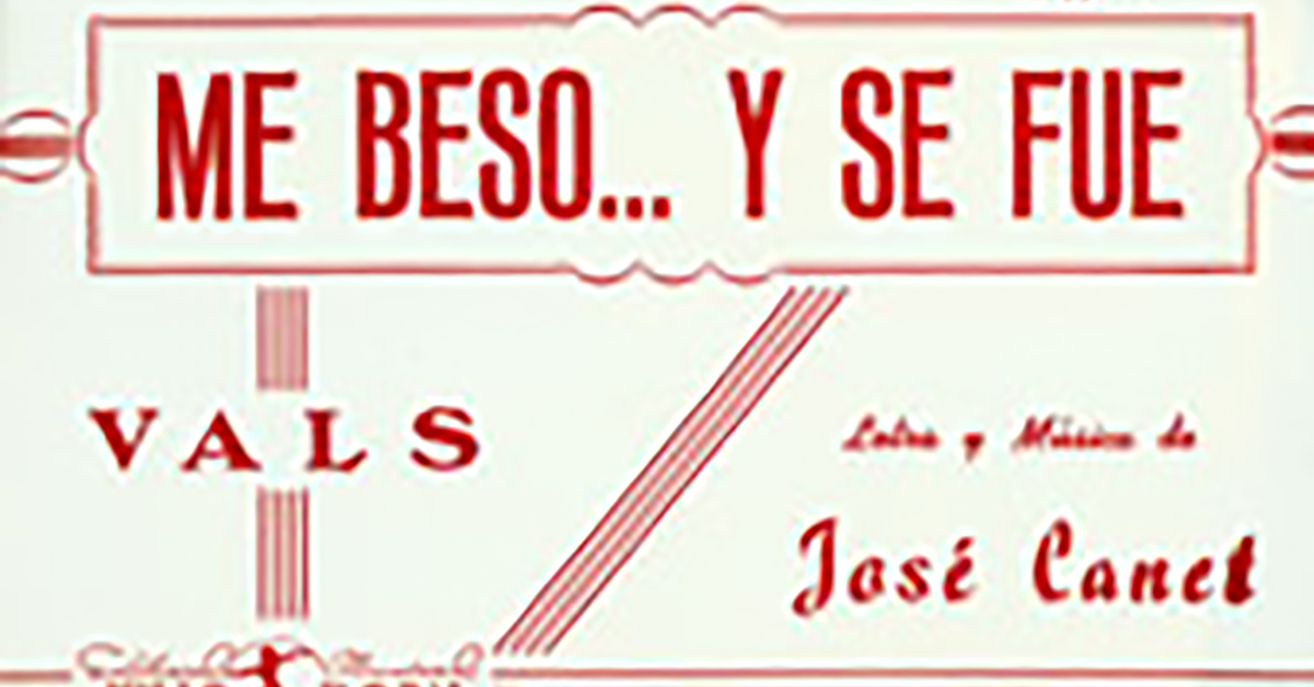 """Me besó y se fue"", Argentine Tango music sheet cover."