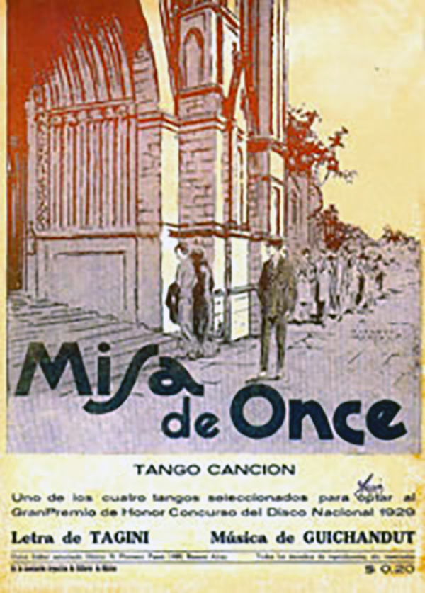 Misa de once, original music sheet cover.