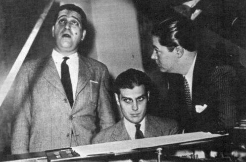 Orlado Goñi con Troilo y Fiorentino. Argentine music at Escuela de Tango de Buenos Aires.