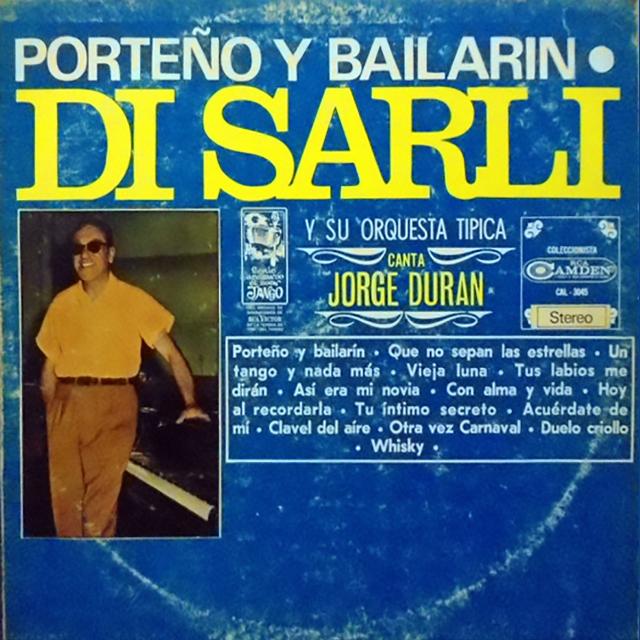 """Porteño y bailarín"", Argentine Tango vinyl disc cover."