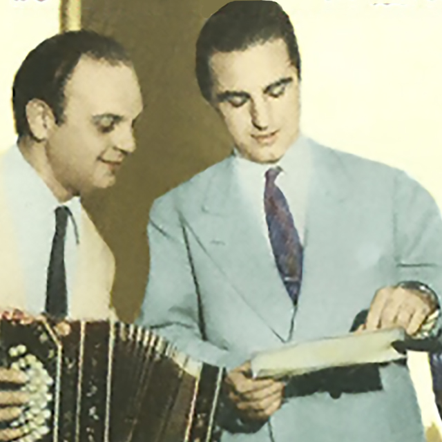 Raúl Iriarte & Miguel Caló, Argentine Tango singer and leader.
