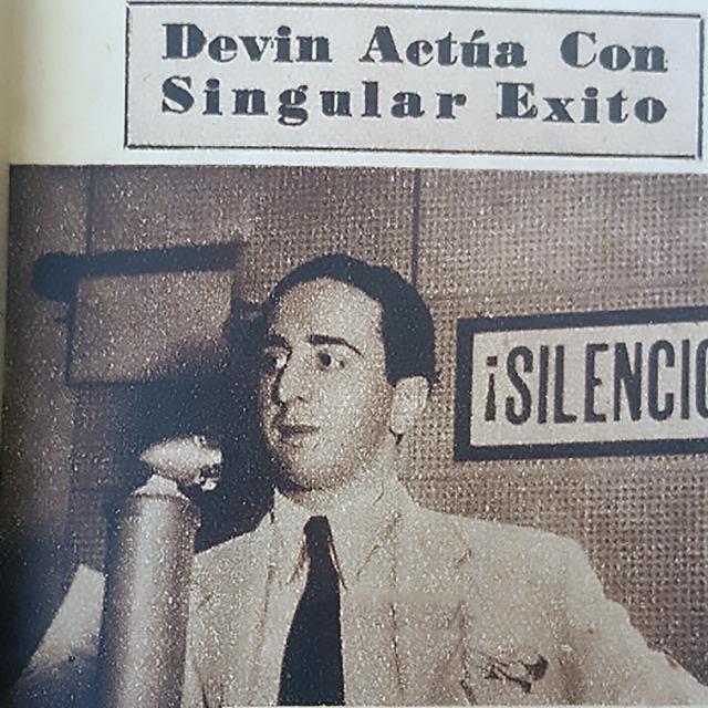 Santiago Devin, Argentine Tango singer.