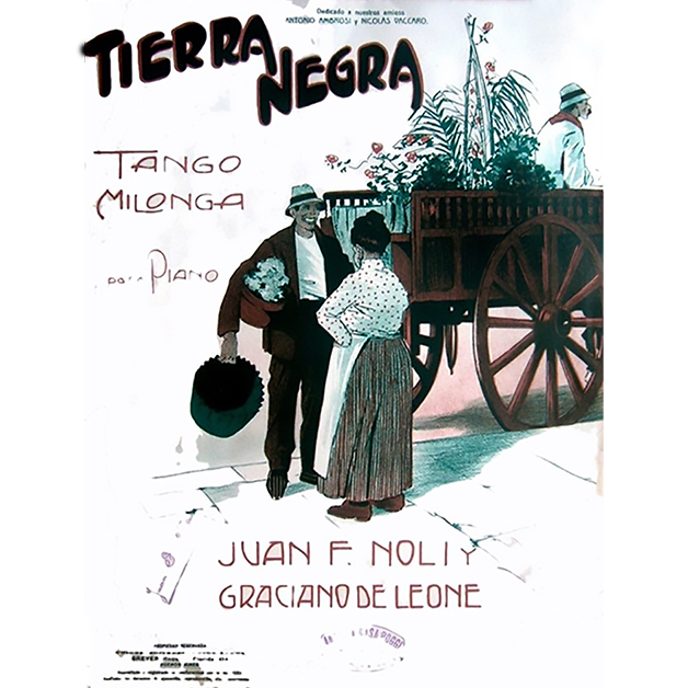 """Tierra Negra"" music sheet cover. Argentine Tango music."