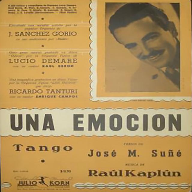 """""""Una emoción"""", Argentine Tango music sheet cover."""