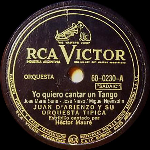 """Yo quiero cantar un Tango"", Argentine Tango music vinyl disc."