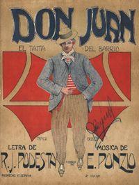 Don Juan, Argentine Tango music sheet cover.