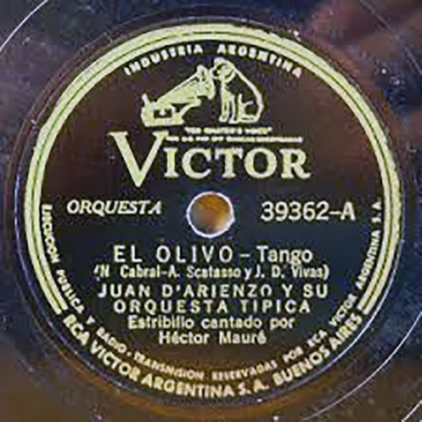 """""""El olivo"""", Argentine Tango of Domingo Julio Vivas"""