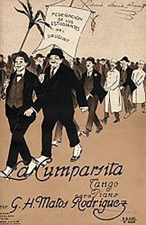 La cumparsita tango music sheet cover