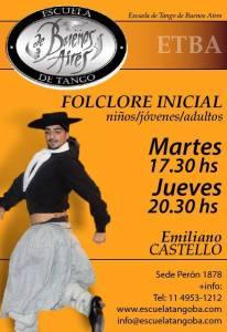 Folklore argentino. Escuela de Tango de Buenos Aires