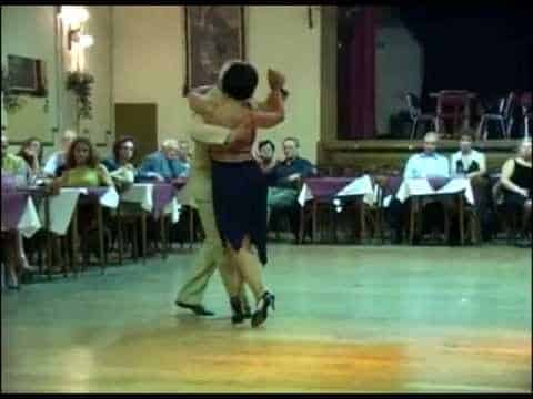 Myriam Pincen - Ricardo Vidort. Maestros milongueros. Escuela de Tango de Buenos Aires.