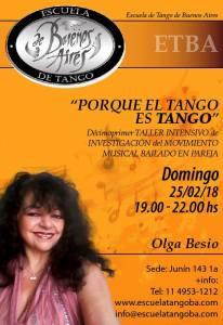 """""""PORQUE EL TANGO ES TANGO """" DÉCIMOPRIMER TALLER INTENSIVO DE INVESTIGACIÓN DEL MOVIMIENTO MUSICAL BAILADO EN.PAREJA !!!! DOMINGO 25/02/2018 Junín 143 1*A Telf.+5411 4951 1212"""