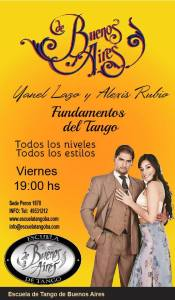 Yanel Lazo & Alexis Rubio. Tango fundamentals. Escuela de tango de Buenos Aires. Classes.