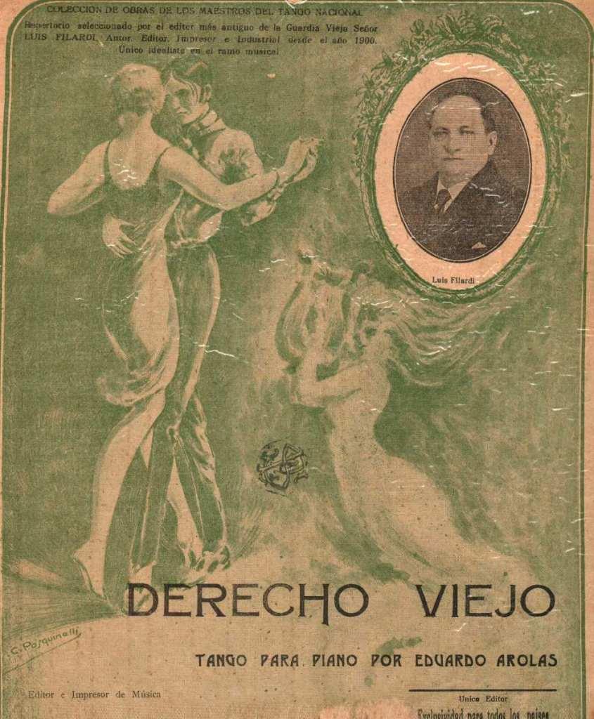 """""""Derecho viejo"""" of Eduardo Arolas. History of Tango by Marcelo Solis. Escuela de Tango de Buenos Aires."""