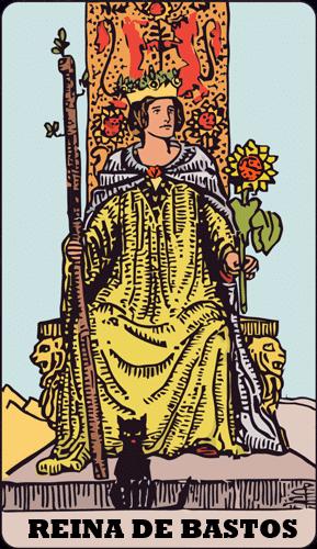 Carta de Tarot Reina de Bastos