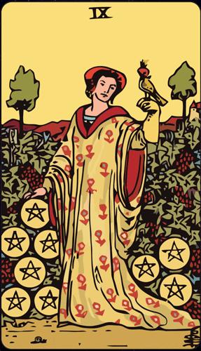 Carta de Tarot 9 de Oros
