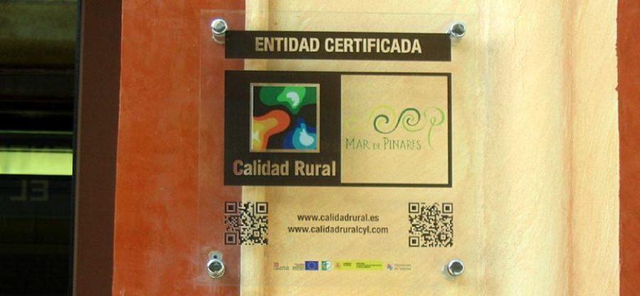 Placa identificativa de los establecimientos adheridos a la Marca.