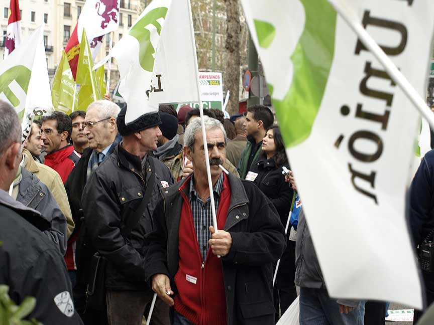 Eduardo Herguedas durante una manifestación.