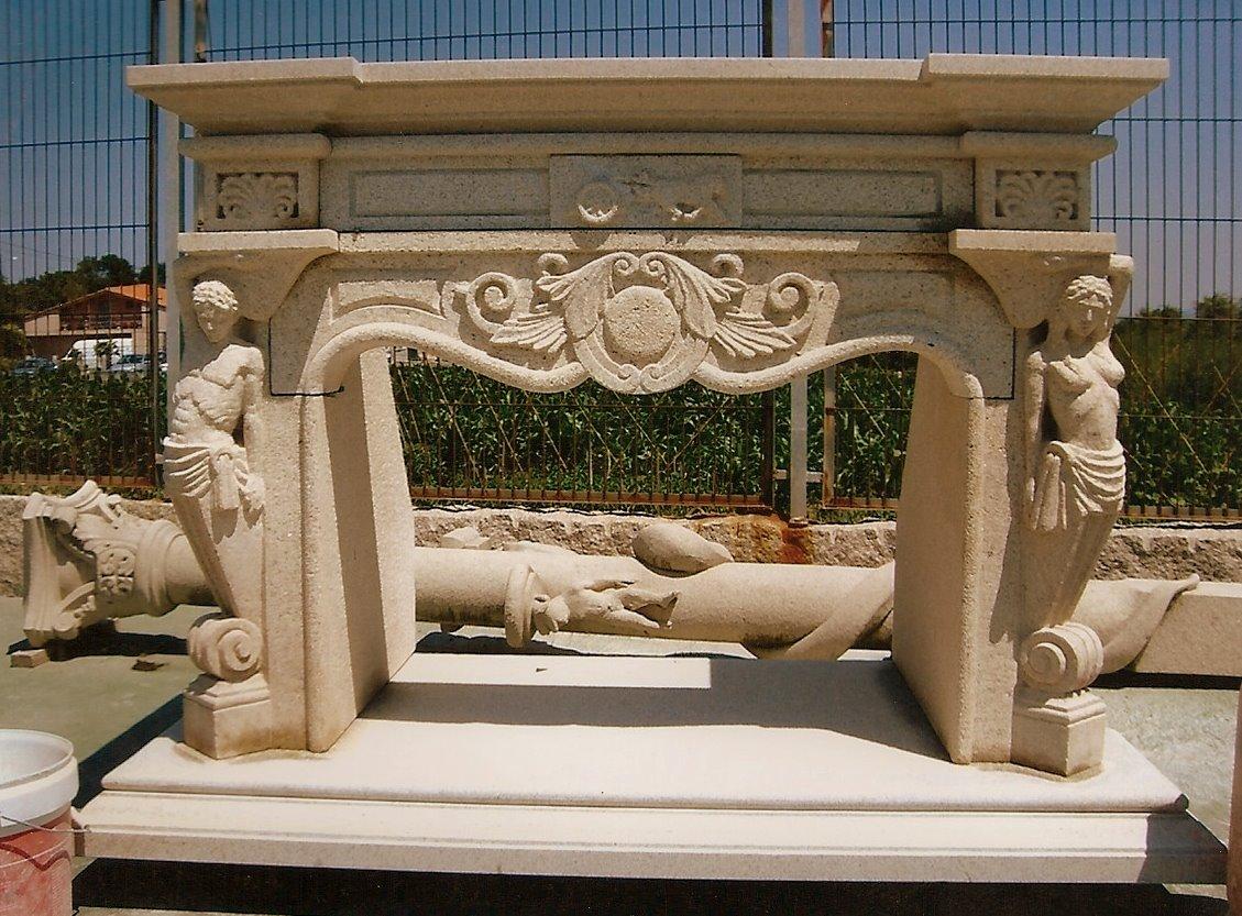 Imagen de chimenea francesa.