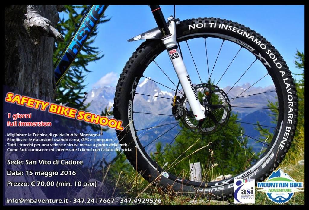 Scuola di Sicurezza in mountain-Bike  in montagna
