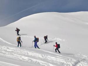 Inversioni su neve fresca con gli Sci-Alpinismo