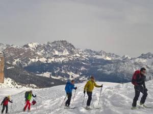 Sciatori del Club Alpino Italiano