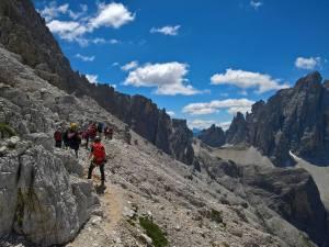 Inizio del ghiaione della Strada degli Alpini