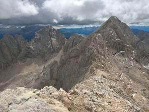 Cima Ombreta Di Mezzo (2983m) e Occidentale (2998m)