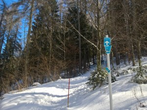 Cartello percorso Sci-Alpinismo