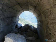 gallerie nei pressi della cima