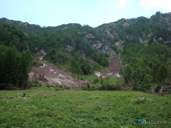 Schianti sulla Val Senons (foto di Roberto Pagurut)