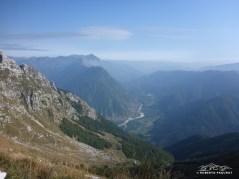 Vista sull'isonzo lato Sloveno, vicino Bovec.