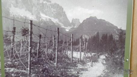 Vista dal torrente saisera al Montasio nel 1916