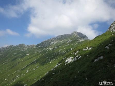 percorso verso la cima
