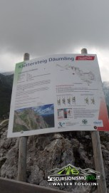 Ferrata Daumling cartello informativo