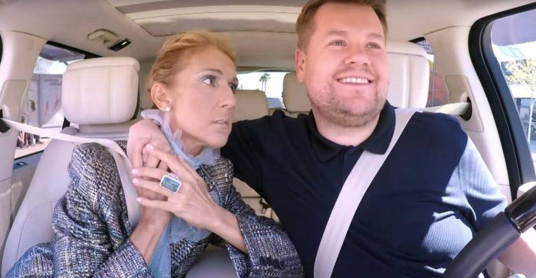 Watch Celine Dion Does Carpool Karaoke With James Corden Escxtra Com