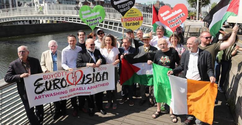 Protesters want Ireland to boycott the 2019 contest in Israel