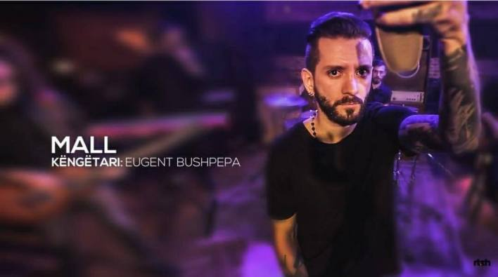 """Eugent Bushpepa and his song """"Mall"""" competed in Festivali i Këngës 56."""