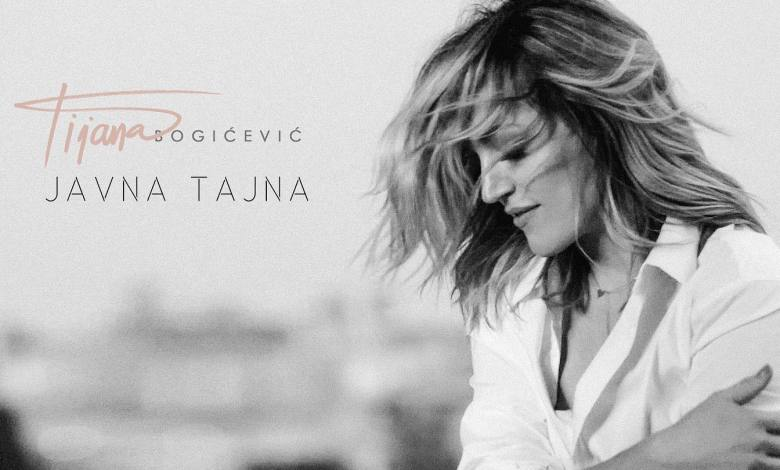 Photo of Tijana Bogicevic advertising her new single Javna Tajna