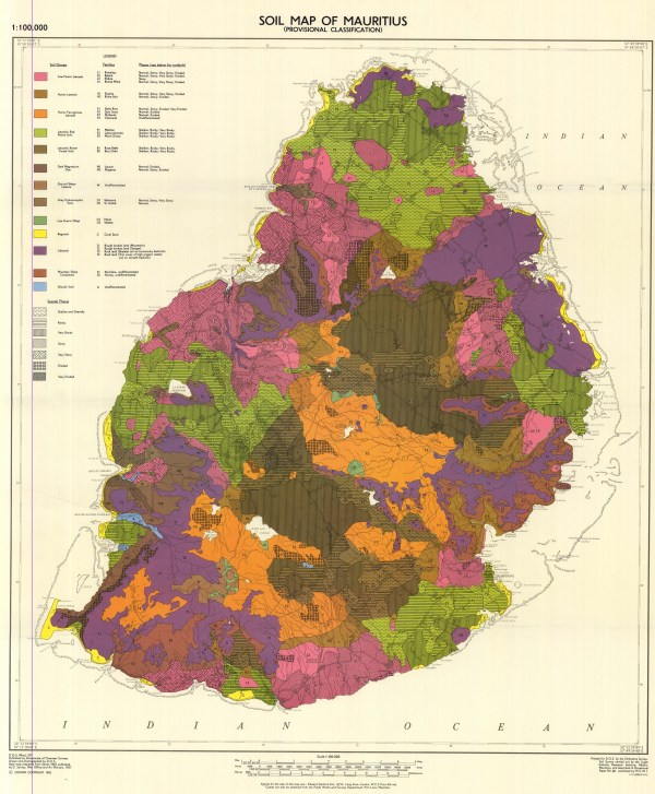 Soil Map of Mauritius Provisional Classification DOS