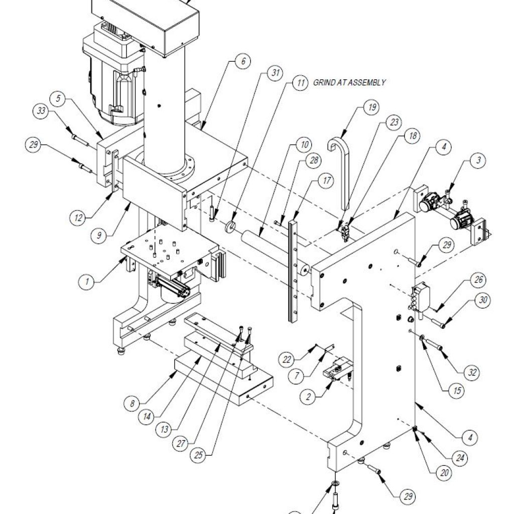 Press Frame Assembly Drawing