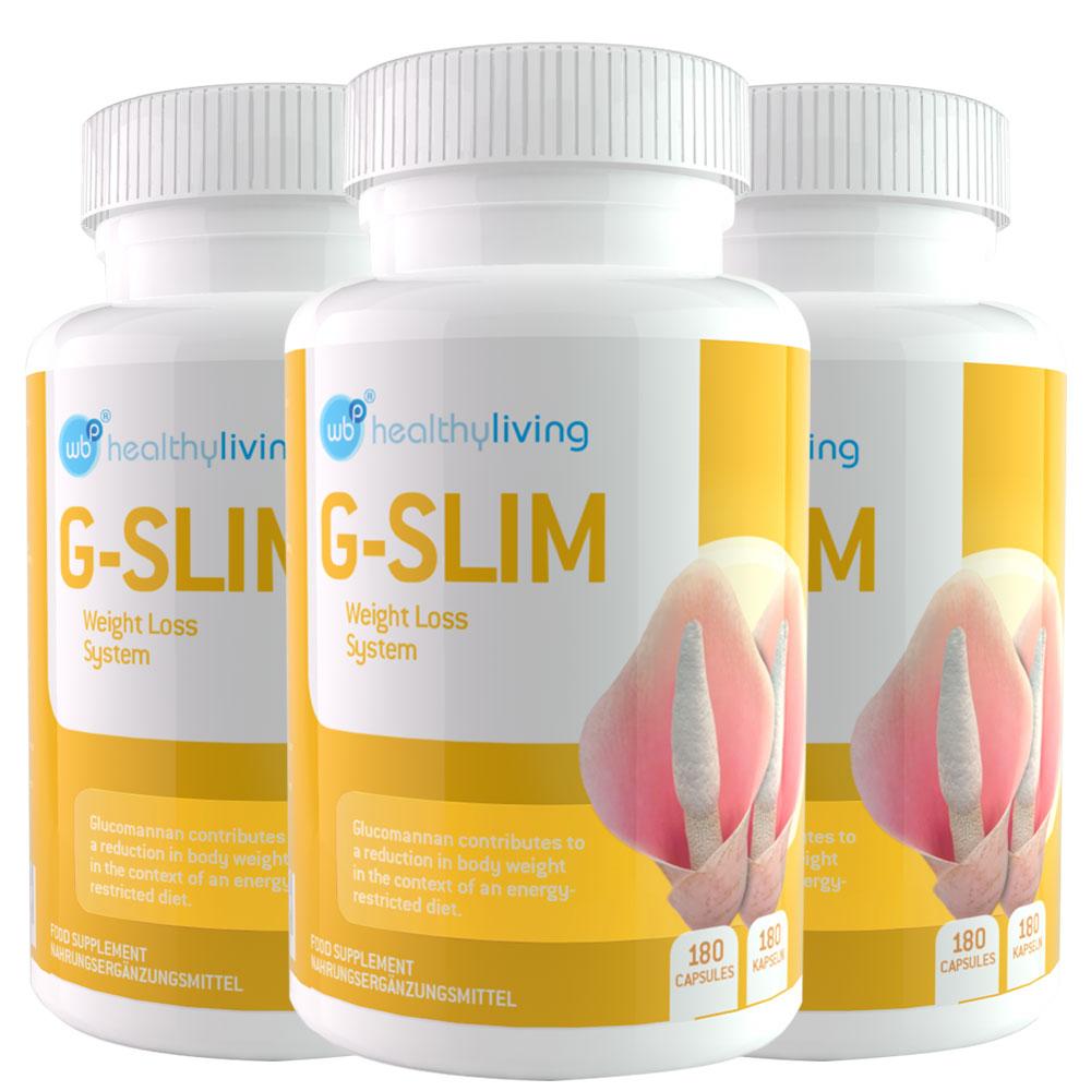 WBP G-Slim Natural Glucomannan Diet Pills - Safe ...
